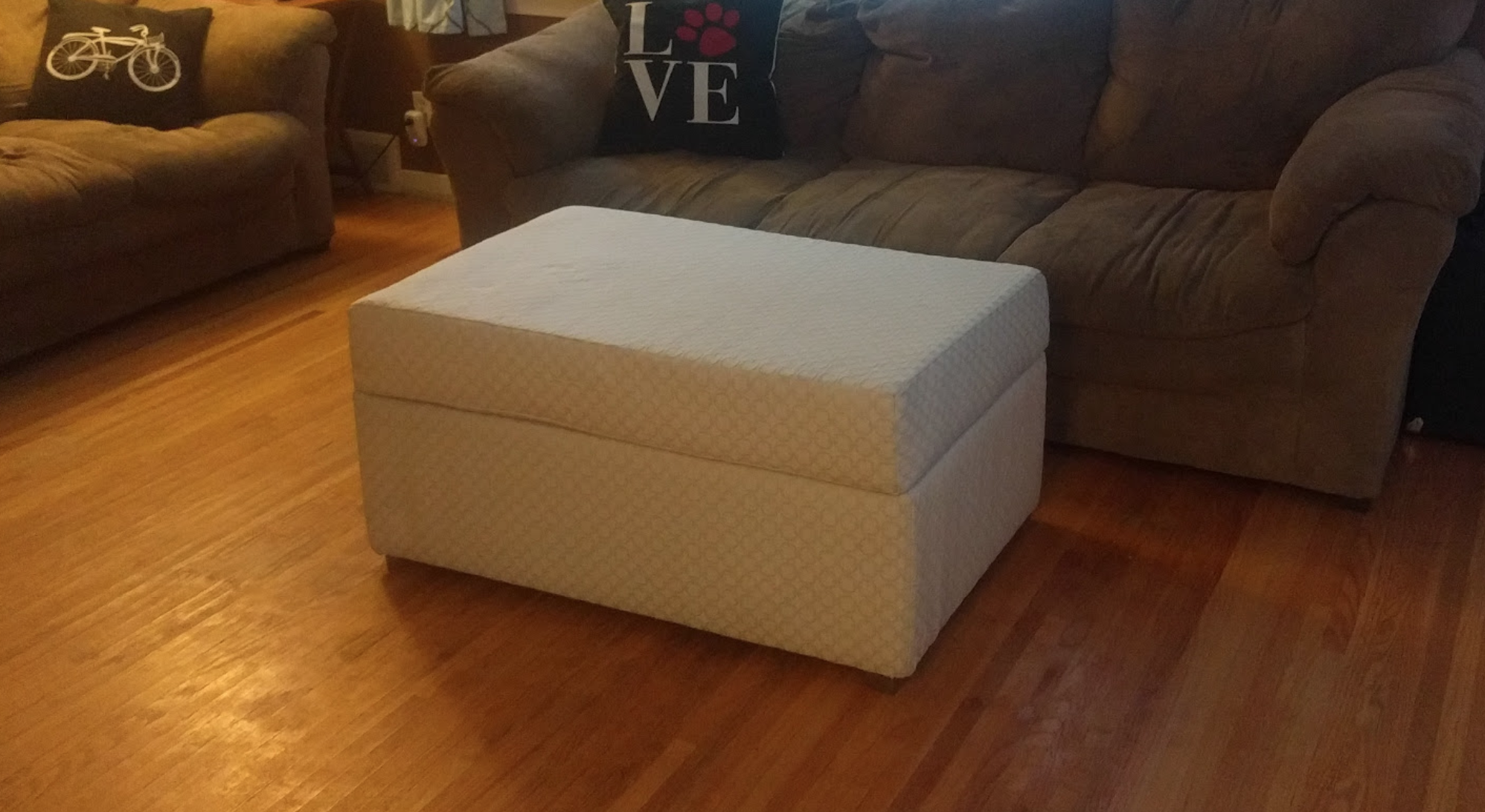 Large Storage Ottoman With Built In Table Pretzel Cabin