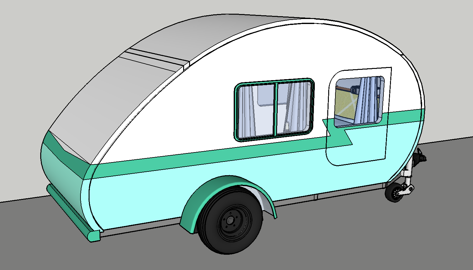 Teardrop Trailer Plans, Details and Drawings - Pretzel Cabin